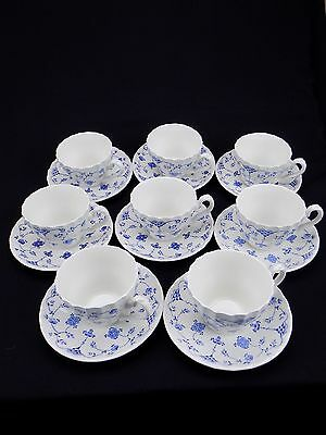 Vintage Myott Finlandia Set of 8 Cups & Saucers England Staffordshire 16 Pieces
