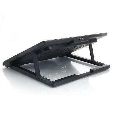 """6 Fans 12""""-17"""" Laptop PC USB LED Light Air Cooling Cooler Adajustable Stand Pad"""