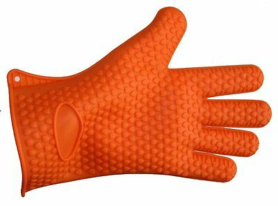 Silicone BBQ Cooking Gloves Heat Resistant Waterproof New Anti Slip