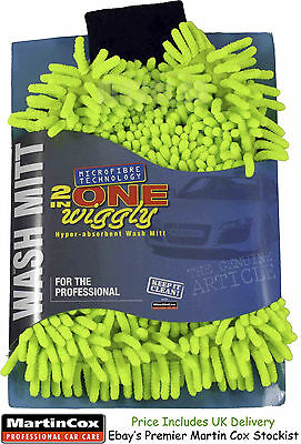 Wash Mitt & Bug Remover Noodle Car Care 2 in 1 Microfibre Shampoo Cleaning Dust