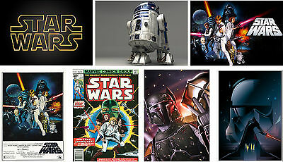 Classic Star Wars Posters Movie Characters Yoda Boba Fett Print Buy 1 get 2 FREE