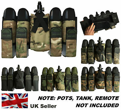 Paintball Pod / Tank Battle Pack Belt Harness for Remote System with 4 FREE POTS
