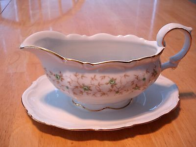 "Mitterteich Bavaria ""Lady Patricia Gravy Boat and Underplate"