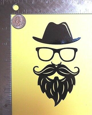 Glasses with Mustache #5 Hipster Style Fancy Goofy Car Tablet Vinyl Decal