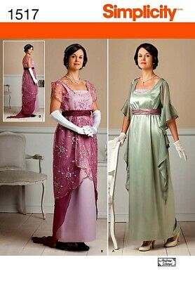 Simplicity 1517 Misses' Edwardian Style Dresses Pattern 6-12 or 14-22