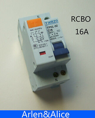 DPNL 1P+N 16A 230V~ 50HZ/60HZ MCB with over current and Leakage protection RCBO