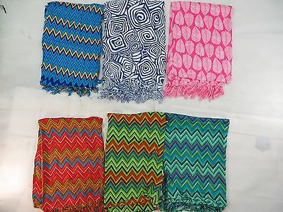 *US SELLER*lot of 5 sarongs wholesale beachwrap cover-up best gift for women