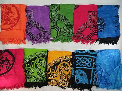 *US SELLER*lot of 4 wholesale celtic knotwork sarong pagan wiccan altar cloth