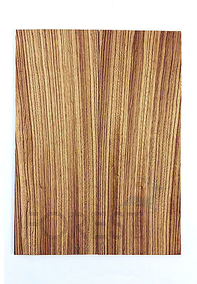 Electric guitar top bookmatched Zebrawood, tapa guitarra electrica Zebrano