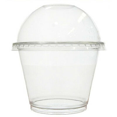 Pack of 10 Plastic Clear Cupcake Cup and Dome Lid with hole