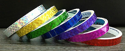 Set of 7 Prism TAPEs Reflective Safety Sticky CHOOSE YOUR COLORS Fishing Lure