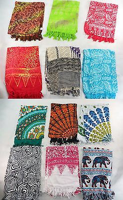 *US SELLER*Lot of 10 flowers mandala wall hanging rayon sarongs headwrap...