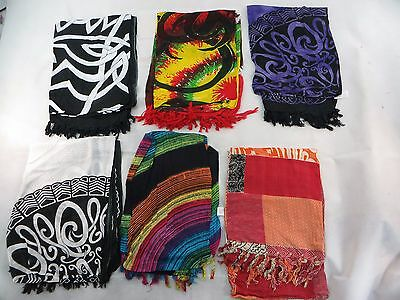 *US SELLER*Lot of 10 hippie boho wall art room decor beach wrap sarong...