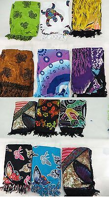 *US SELLER*Lot of 10 turtle butterfly summer fashion beachwear sarong
