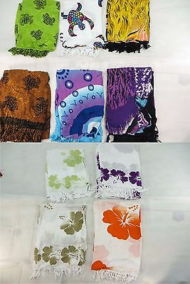 *US SELLER*Lot of 10 hibiscus sarong sealife dolphin turtle tropical aloha...