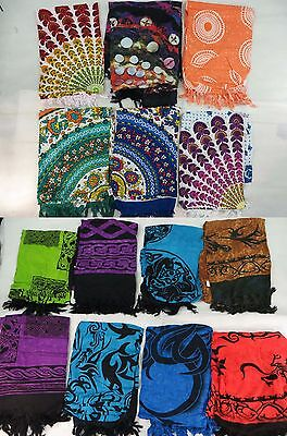 *US SELLER*Lot of 10 tribal primitive sarong geckos tattoo wholesale swimwear...