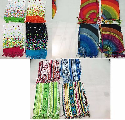 *US SELLER*Lot of 10 wholesale bulk sarong hearts colorfly circles south-western