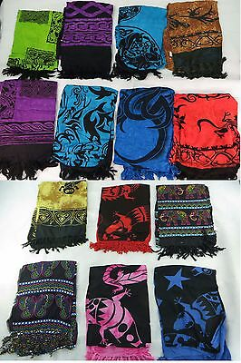 *US SELLER*Lot of 10 Celtic interlace knotwork pareos and sarongs tribal...