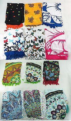 *US SELLER*Lot of 10 mandala circle hibiscus butterfly turtle sarong bohemian...