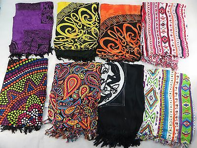 *US SELLER*Lot of 10 Celtic retro boho sarong womens hippie clothing