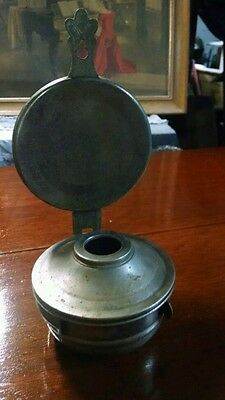 Vintage Oil Lamp with Reflector. Base and reflector only