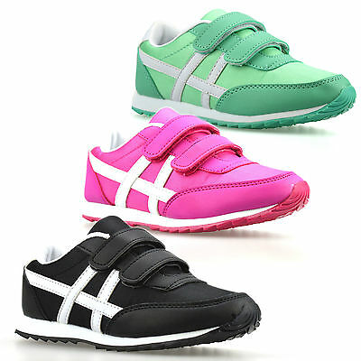 Girls Boys Kids Childrens Infants Casual Touch Fasten Summer Trainers Shoes Size