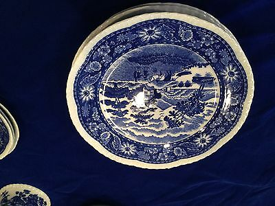 Blue Willow China Made in Occupied Japan-29 piece set