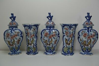 """13½"""" Delft """"Pieter Kocx"""" Delftware Antique  APK - early 18th century The greek A"""