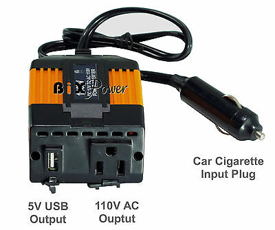 BiXPower 12V ( 10V ~ 17V) DC to 110V AC 155W Modified Sine Wave Power Inverter