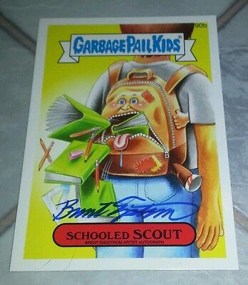 Garbage Pail Kids 2014 Series 2 AUTOGRAPH card of #90b SCHOOLED SCOUT