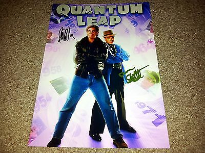 "Quantum Leap Pp Cast Signed 12""x8"" A4 Photo Poster Scott Bakula & Dean Stockwell"