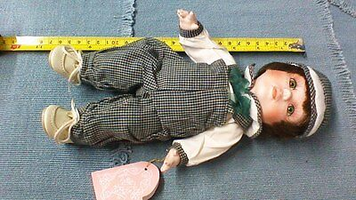 """FRANKLIN MINT HEIRLOOM DOLL """"Buddy"""", All Porcelain and Jointed w/original box"""
