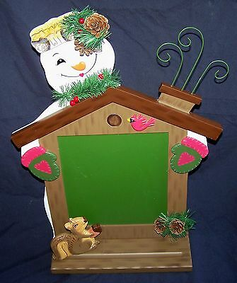Retired Home Interiors Snowman Chalkboard #12892-NIB