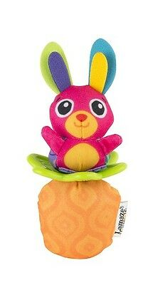 Lamaze Little Grip Rattle Bunny Soft Baby Toy shake and roll Textured Teether
