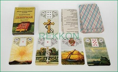 Гадание Ленорман Tarot Madame Lenormand Fortune Telling ORACLE 36 Mini Cards