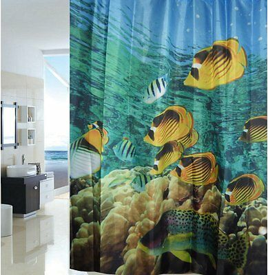 Coral Reef Aquarium Fabric Shower Curtain New Free Shipping