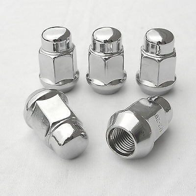 Wheel Nuts Acorn Set Of 20 Pieces Chrome 7/16 Inch X 20