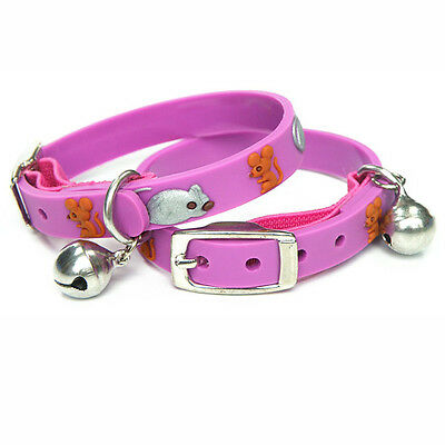 Pink Mouse Cat Kitten Waterproof Safety Collars - 22cm
