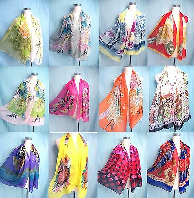 *US SELLER*lot of 50 chiffon scarf wholesale shawls and wraps