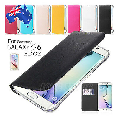 Ultra Super Slim Flip Leather Cover Card Slot For Samsung Galaxy S6 Edge Case