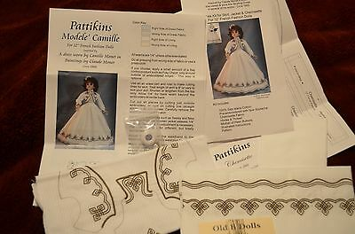 "Modele' Camille's Strolling Dress with Chemisette for a 12"" French Fashion Doll"