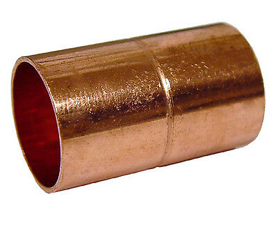 "Copper Plumbing Fitting Coupling 1 1/2"" Diameter CxC Sweat"