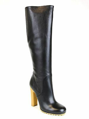 1695 New GUCCI Leather Stivale Pelle Luxor Tall Knee Boot Black 323548 1000 6b52d1d27447f