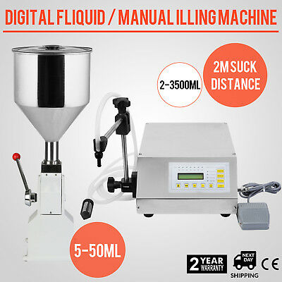 Gf160 Liquid Digital Filling Machine 5-3500Ml A03 Manual Filling Machine 5-50Ml