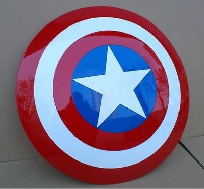 1:1 Scale Captain America ABS Shield The Avengers Cosplay Prop Halloween 24""