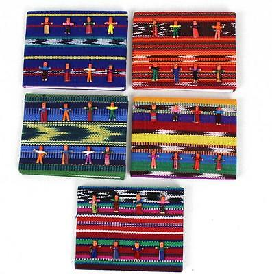 Set Of 5 Worry Doll Dolls Notebooks Mayan Artisans Fair Trade Children Anxiety