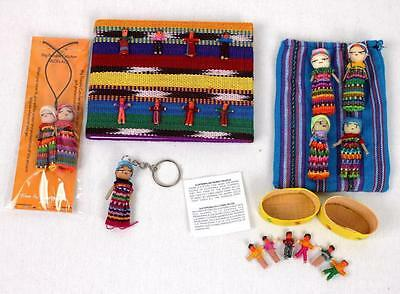 Worry Dolls Gift Pack: 1x Notebook 1x Box 1x Necklace 1x Keyring 1 x Bag