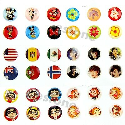 Cute 330PCS Mixed Home Button Sticker Protector for iPhone iPad 1/ 2 iTouch