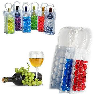 Wine Bag Bottle Gift Cooler Reusable Carrier Champagne Ice Cool Travel Case Beer