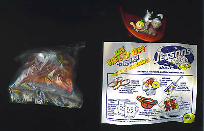1990 JETSONS MOVIE kool-aid PVC spaceship figure theater promo toy not wendy